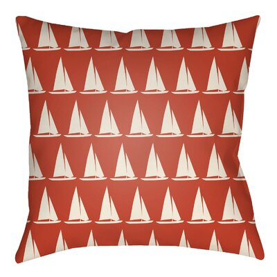 Litchfield Sumter Indoor/Outdoor Throw Pillow Size: 20 H x 20 W, Color: Poppy Red/Ivory