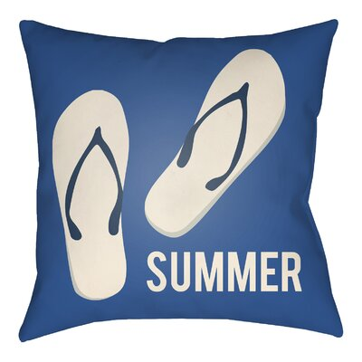 Litchfield Summer Indoor/Outdoor Throw Pillow Size: 20 H x 20 W, Color: Royal Blue/Ivory