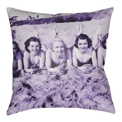 Litchfield Sandy Indoor/Outdoor Throw Pillow Size: 20 H x 20 W, Color: Violet
