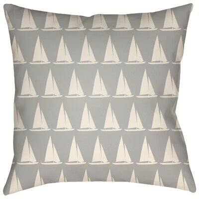 Dagostino Indoor/Outdoor Throw Pillow Size: 20 H x 20 W, Color: Gray/Ivory