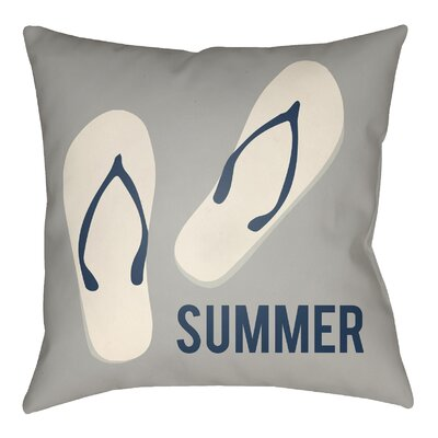 Litchfield Summer Indoor/Outdoor Throw Pillow Size: 20 H x 20 W, Color: Gray/Ivory