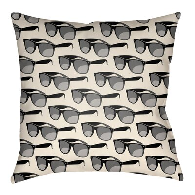 Bloom Indoor/Outdoor Throw Pillow Size: 20 H x 20 W, Color: Onyx Black/Ivory