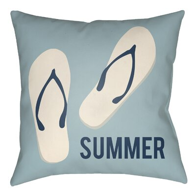 Litchfield Summer Indoor/Outdoor Throw Pillow Size: 20 H x 20 W, Color: Light Blue/Ivory