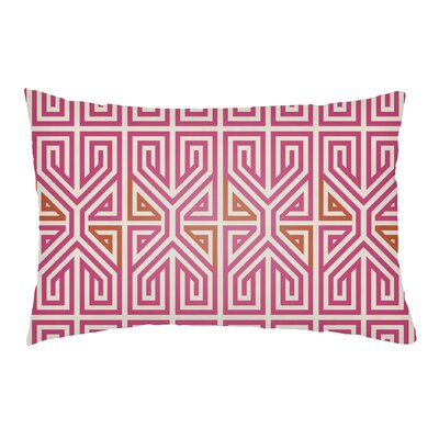 Mullikin Indoor/Outdoor Lumbar Pillow Color: Hot Pink/Tangerine