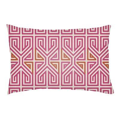 Lolita Poppy Indoor/Outdoor Lumbar Pillow Color: Hot Pink/Tangerine