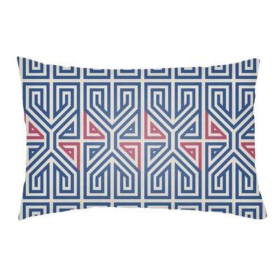 Lolita Poppy Indoor/Outdoor Lumbar Pillow Color: Blue/Hot Pink