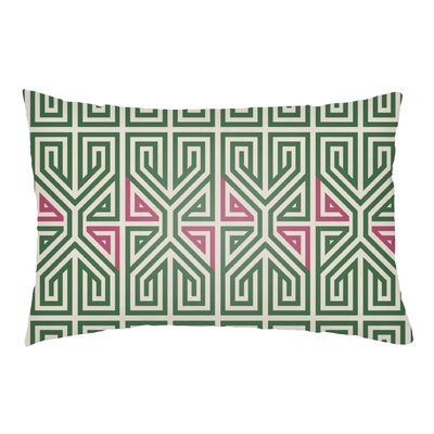 Lolita Poppy Indoor/Outdoor Lumbar Pillow Color: Kelly Green/Hot Pink