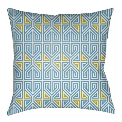 Mullikin Indoor/Outdoor Throw Pillow Size: 22 H x 22 W, Color: Kelly Green/Blue