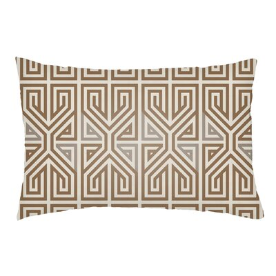 Mullikin Indoor/Outdoor Lumbar Pillow Color: Nutmeg/Taupe