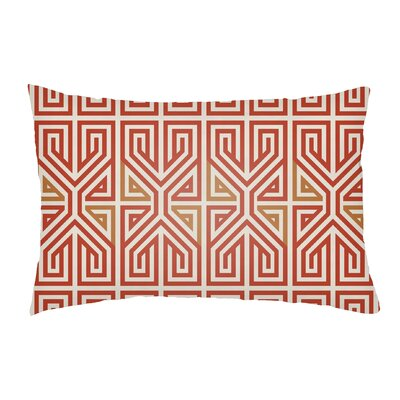 Mullikin Indoor/Outdoor Lumbar Pillow Color: Poppy Red/Tangerine
