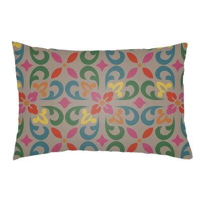 Lolita Angel Indoor/Outdoor Lumbar Pillow Color: Teal/Kelly Green