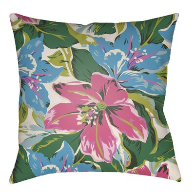 Hillmont Indoor/Outdoor Throw Pillow Size: 22 H x 22 W, Color: Fuchsia/Aqua