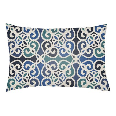 Alvey Indoor/Outdoor Lumbar Pillow Color: Navy Blue/Royal Blue