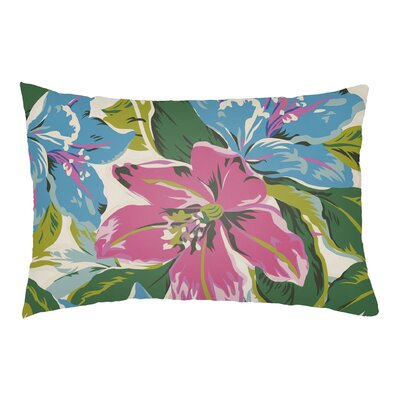 Hillmont Indoor/Outdoor Lumbar Pillow Color: Fuchsia/Aqua