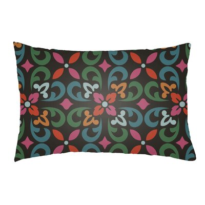 Dillion Indoor/Outdoor Lumbar Pillow Color: Teal/Kelly Green/Black