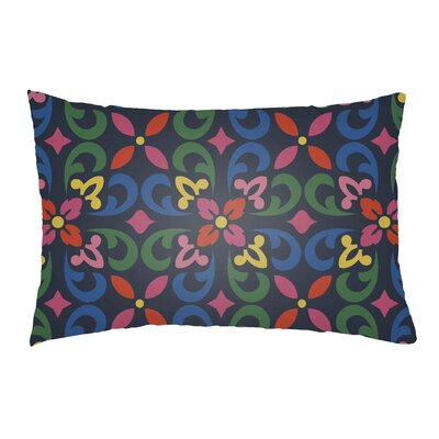 Dillion Indoor/Outdoor Lumbar Pillow Color: Royal Blue/Kelly Green