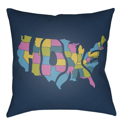 Bracero Indoor/Outdoor Throw Pillow Size: 22 H x 22 W, Color: Fuchsia/Aqua