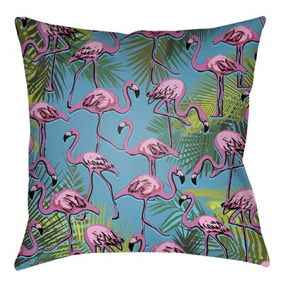Tidewater Flamingo Indoor/Outdoor Throw Pillow Size: 16 H x 16 W