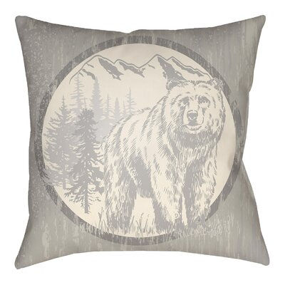 Pitre Bear Throw Pillow Size: 20 H x 20 W, Color: Light Gray/Beige