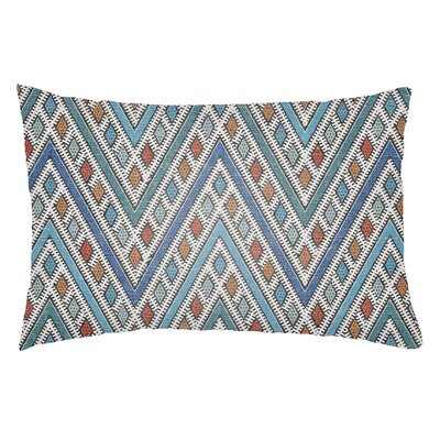 Kalinowski Indoor/Outdoor Lumbar Pillow Color: Royal Blue/Aqua