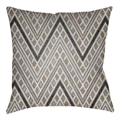 Kalinowski Indoor/Outdoor Throw Pillow Size: 16 H x 16 W, Color: Gray/Light Gray