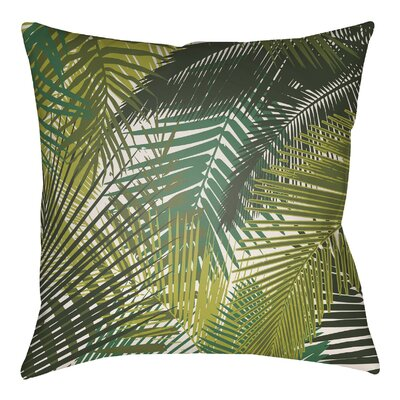 Edwards Palm Indoor/Outdoor Throw Pillow Size: 18 H x 18 W, Color: Royal Blue/Navy Blue