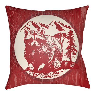 Lodge Cabin Raccoon Ridge Indoor/Outdoor Throw Pillow
