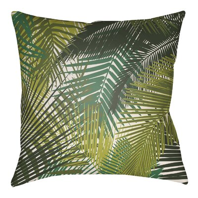 Edwards Palm Indoor/Outdoor Throw Pillow Size: 22 H x 22 W, Color: Lime Green/Olive Green
