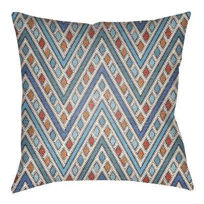 Kalinowski Indoor/Outdoor Throw Pillow Size: 20 H x 20 W, Color: Royal Blue/Aqua