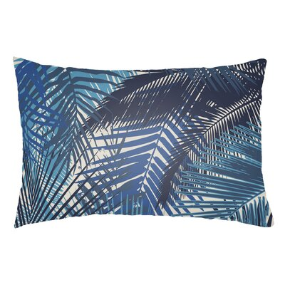 Edwards Palm Indoor/Outdoor Lumbar Pillow Color: Royal Blue/Navy Blue