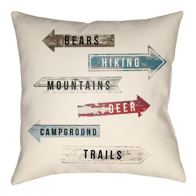 Lodge Cabin Compass Throw Pillow