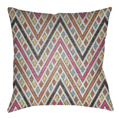 Kalinowski Indoor/Outdoor Throw Pillow Size: 20 H x 20 W, Color: Hot Pink/Dark Orange
