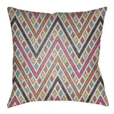 Lolita Leilani Indoor/Outdoor Throw Pillow Size: 20 H x 20 W, Color: Hot Pink/Dark Orange