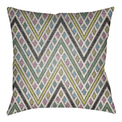 Kalinowski Indoor/Outdoor Throw Pillow Size: 16 H x 16 W, Color: Royal Blue/Aqua