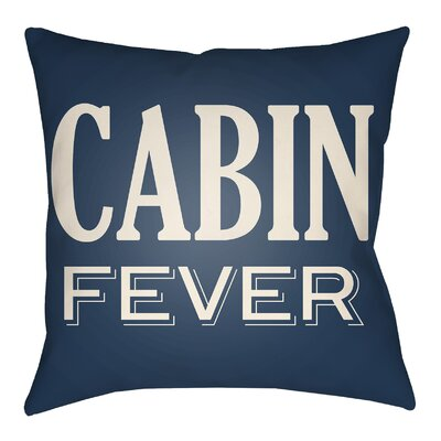 Lodge Cabin Fever Indoor/Outdoor Throw Pillow Size: 20 H x 20 W, Color: Navy Blue/Beige