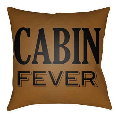 Litzy Cabin Fever Indoor/Outdoor Throw Pillow Size: 20 H x 20 W, Color: Tan/Onyx Black