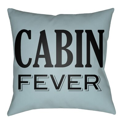Litzy Cabin Fever Indoor/Outdoor Throw Pillow Size: 20 H x 20 W, Color: Light Blue/Onyx Black