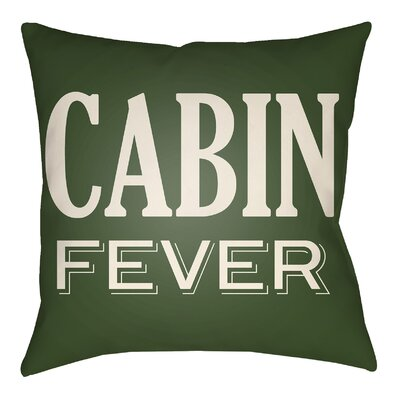 Lodge Cabin Fever Indoor/Outdoor Throw Pillow Size: 20 H x 20 W, Color: Forest Green/Beige