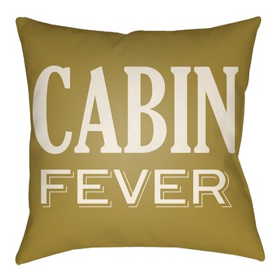 Lodge Cabin Fever Indoor/Outdoor Throw Pillow Size: 20 H x 20 W, Color: Mustard/Beige