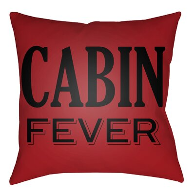 Lodge Cabin Fever Indoor/Outdoor Throw Pillow Color: Crimson Red/Onyx Black, Size: 16