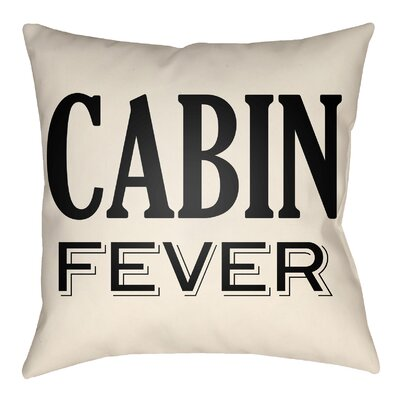 Litzy Cabin Fever Indoor/Outdoor Throw Pillow Size: 20 H x 20 W, Color: Onyx Black/Beige