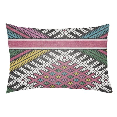 Lolita Pratt Indoor/Outdoor Lumbar Pillow Color: Hot Pink/Teal