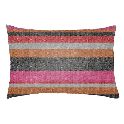 Zebrowski Indoor/Outdoor Lumbar Pillow Color: Hot Pink/Poppy Red