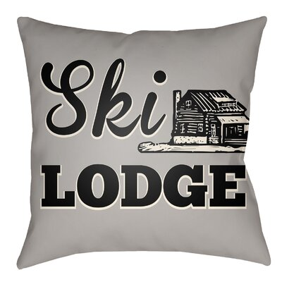 Lively Ski Lodge Indoor/Outdoor Throw Pillow Size: 20 H x 20 W, Color: Light Gray