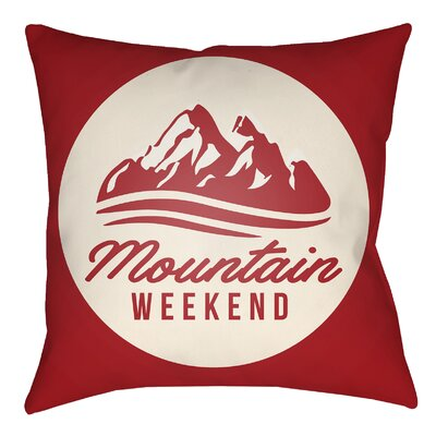 Lodge Cabin Alp Indoor/Outdoor Throw Pillow Size: 16 H x 16 W, Color: Crimson Red/Beige