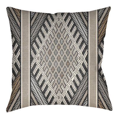 Lolita Pratt Indoor/Outdoor Throw Pillow Size: 16 H x 16 W, Color: Gray/Light Gray
