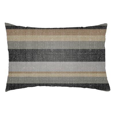 Zebrowski Indoor/Outdoor Lumbar Pillow Color: Gray/Light Gray