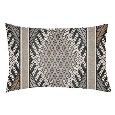 Lolita Pratt Indoor/Outdoor Lumbar Pillow Color: Gray/Light Gray
