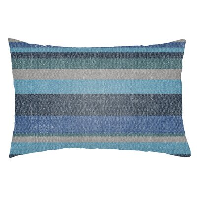 Zebrowski Indoor/Outdoor Lumbar Pillow Color: Navy Blue/Royal Blue