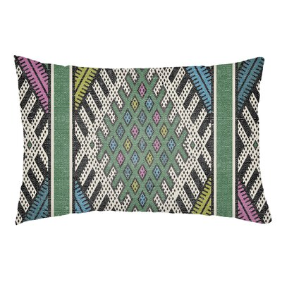 Dugger Indoor/Outdoor Lumbar Pillow Color: Kelly Green/Lime Green